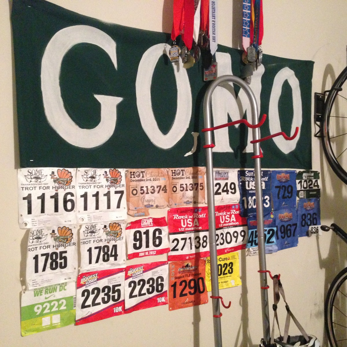 Motivation, Inspiration, Triathlon Medals, Race Numbers
